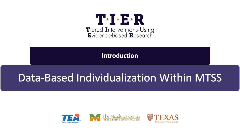 Data-Based Individualization Within MTSS