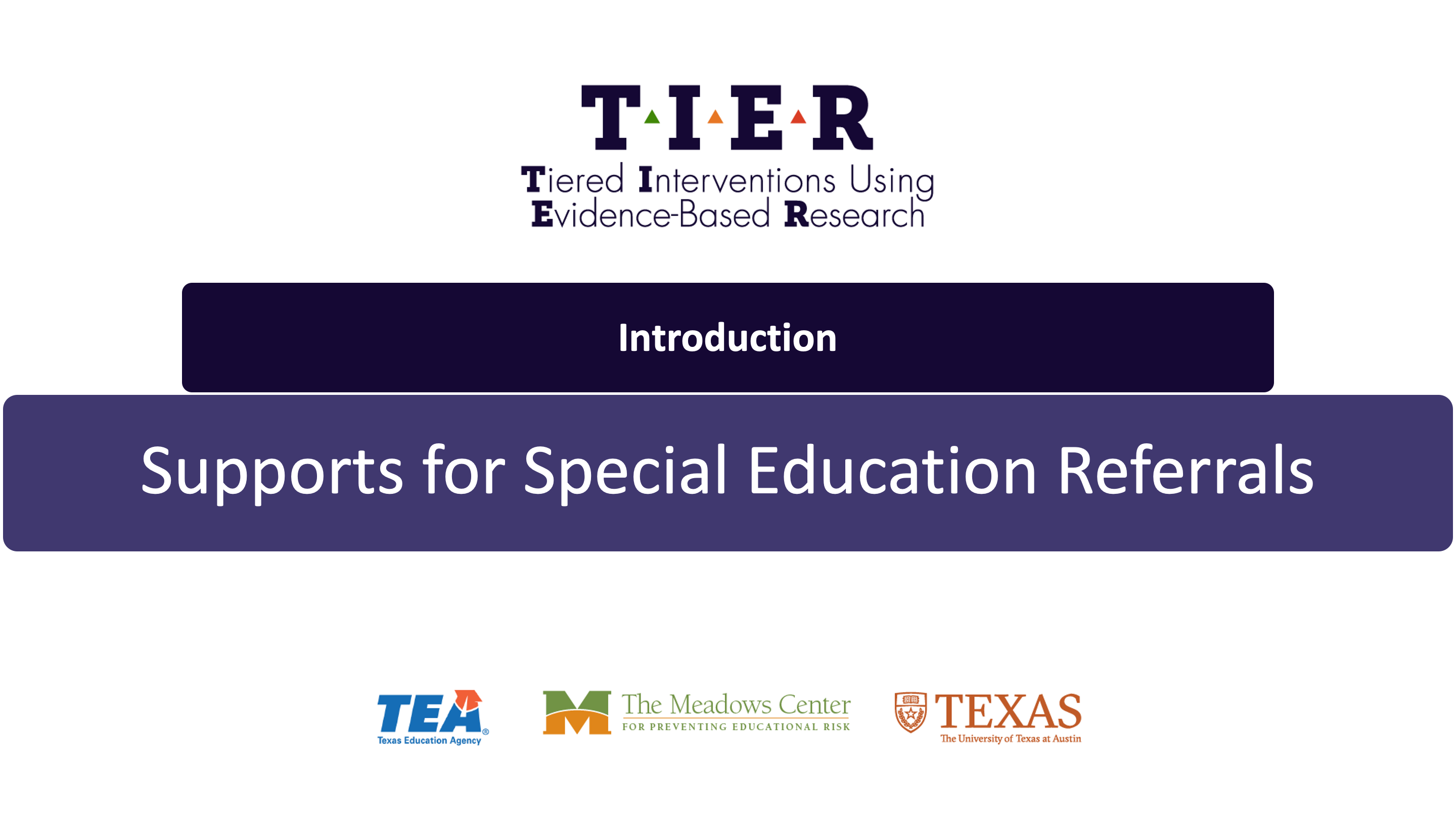 Supports for Special Education Referrals