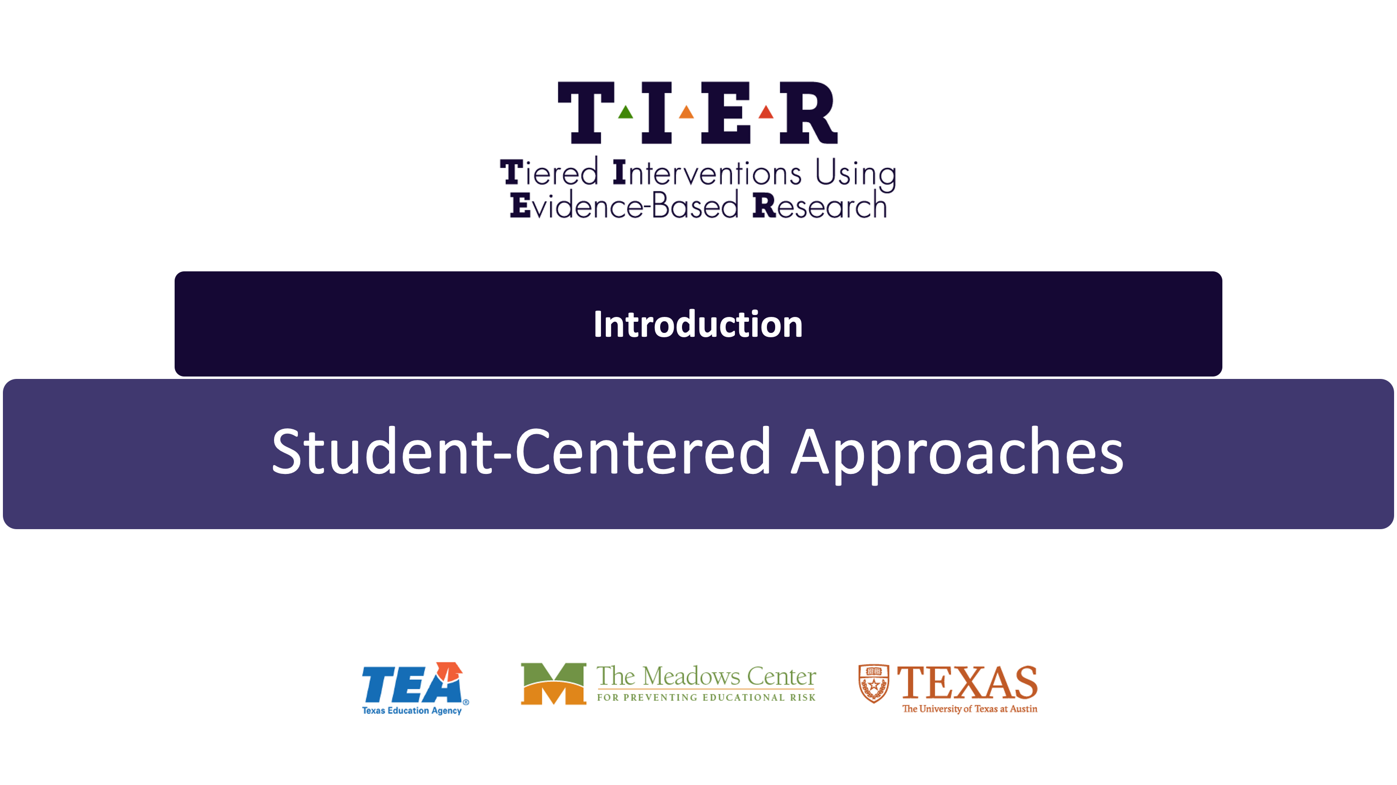 Student-Centered Approaches